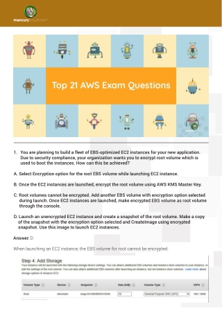 Top 21 Question and Answer Ask in interview after AWS Certification