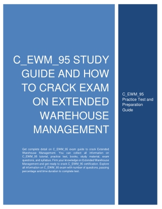 C_EWM_95 Study Guide and How to Crack Exam on Extended Warehouse Management