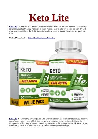 Where to Buy Keto Lite
