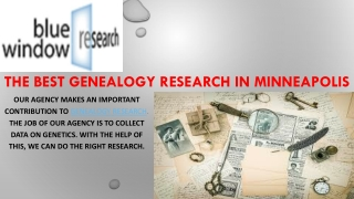 The Best Genealogy Research In Minneapolis.