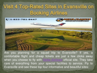 Visit 4 Top-Rated Sites in Evansville on Booking Airlines