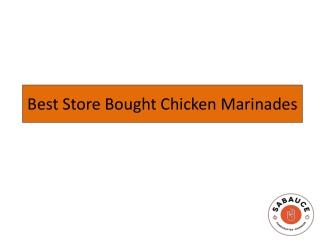 Best Store Bought Chicken Marinades