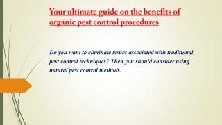 pest control services | herbal pest control