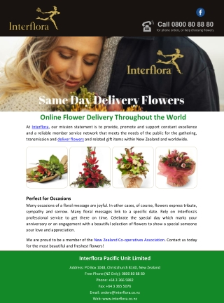 Online Flower Delivery Throughout the World
