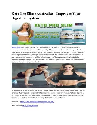 Keto Pro Slim (Australia) - Improves Your Digestion System