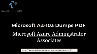 Microsoft AZ-103 Dumps pdf - Latest And Updated 2019