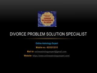 Divorce Problem Solution Specialist