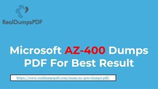 Microsoft AZ-400 Dumps pdf ~ A Way To Get 98% Score