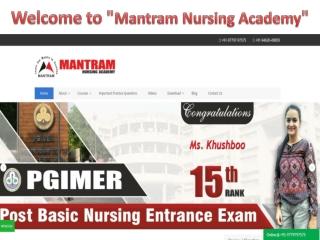 MNS Nursing Entrance Coaching in Chandigarh