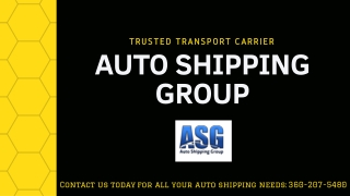 Auto Shipping Group - Vehicle Transport Service Provider