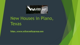 New Houses in Plano Texas