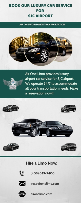 Book our luxury Car Service for SJC Airport