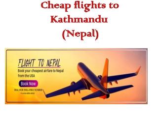 Cheap Flights to Kathmandu, Nepal (KTM Airport)
