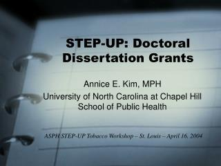 STEP-UP: Doctoral Dissertation Grants