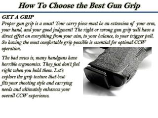 Concealedonline Reviews - How To Choose the Best Gun Grip