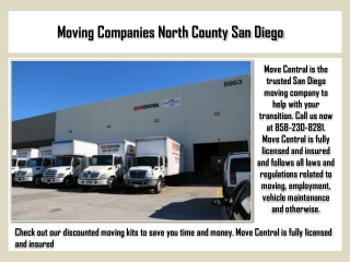 Moving Companies North County San Diego