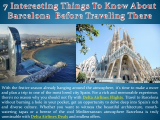 7 Interesting Things To Know About Barcelona Before Traveling There