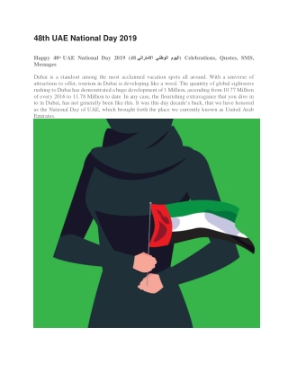 48th UAE National Day 2019