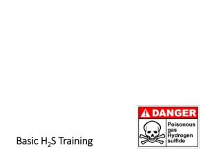 Basic H2S training