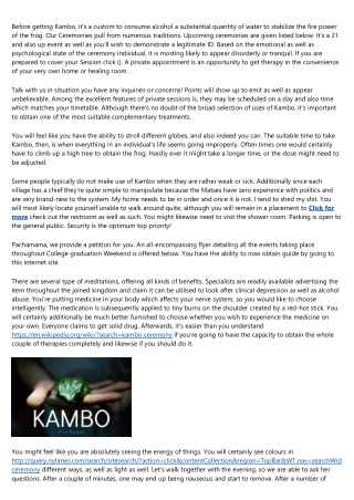 An Introduction to kambo medicine ceremonies