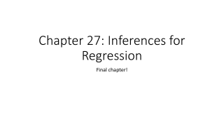Chapter 27 Inferences for Regression