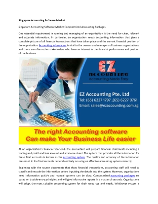 Singapore Accounting Software Market   ezaccounting