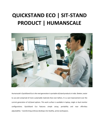 Adjustable & Portable Standing Desk   QuickStand Eco   Humanscale