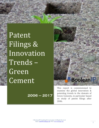 Green Cement _ Filing Trend _ Boolean IP