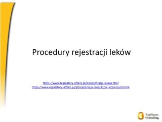 Procedury rejestracji leków