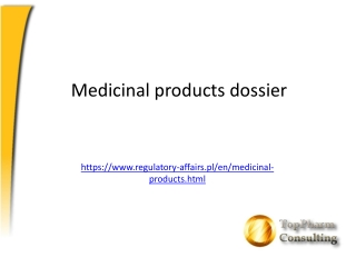 Medicinal products dossier