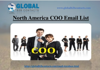 North America COO Email List