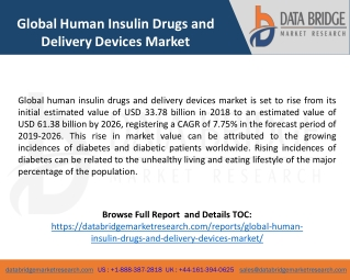 Global Human Insulin Drugs and Delivery Devices Market - Industry Trends and Forecast to 2026