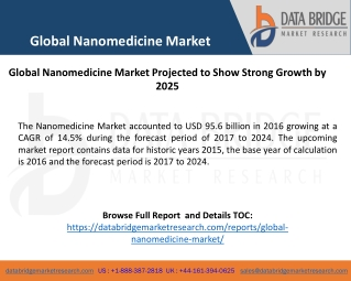 Global Nanomedicine Market - Industry Trends and Forecast to 2024
