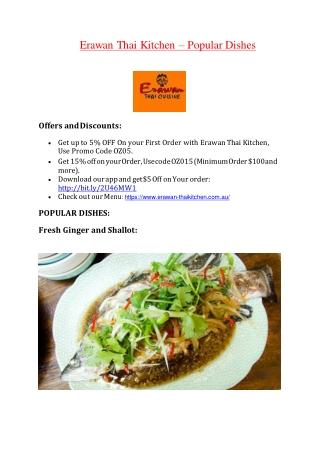Erawan Thai Kitchen – 5% off – Thai restaurant Penshurst