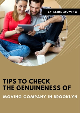 Tips to Check the Genuineness of Moving Company in Brooklyn