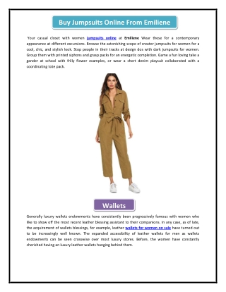 Buy Jumpsuits Online From Emiliene