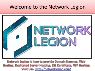 Book Domain Names, Web Hosting, Dedicated Serve, SSL | Network Legion