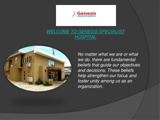 Best Private Hospitals In Lagos-Genesis Specialist Hospital