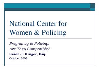 National Center for  Women & Policing