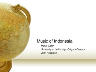 Music of Indonesia