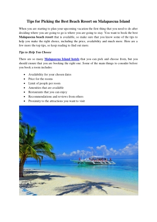 The Best Dive & Stay Packages in Malapascua