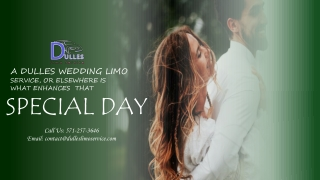 A Dulles Wedding Limo Service, or Elsewhere Is What Enhances That Special Day
