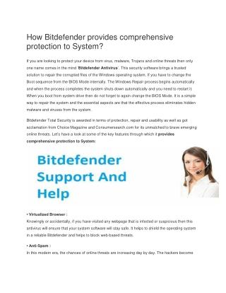 How to Update Bitdefender?