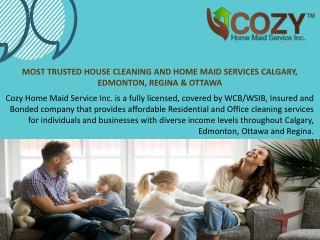 Best Calgary Home Maid Services