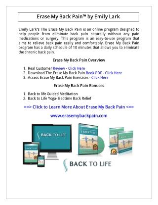 Emily Lark: Erase My Back Pain PDF Free Download