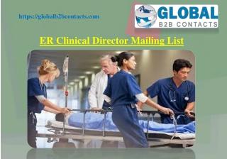 ER Clinical Director Mailing List