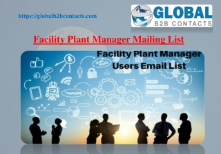 Facility Plant Manager Mailing List