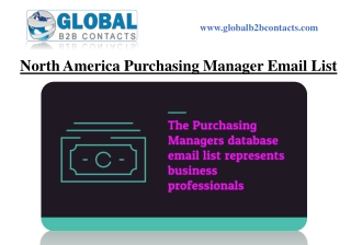 North America Purchasing Manager Email List