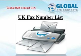 UK Fax Number List