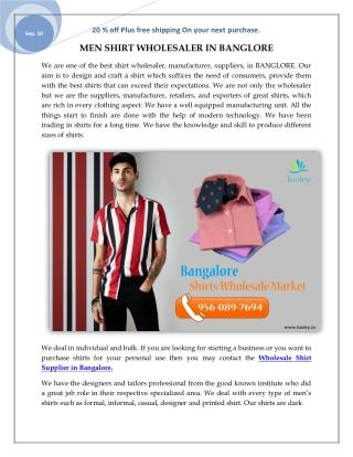 SHIRT FOR MEN- WHOLESALE SHIRTS ONLINE INDIA